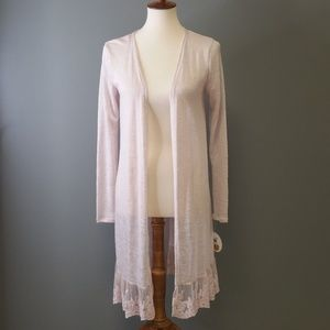 Love By Design Lace Bottom Cardigan NWT SZ Med